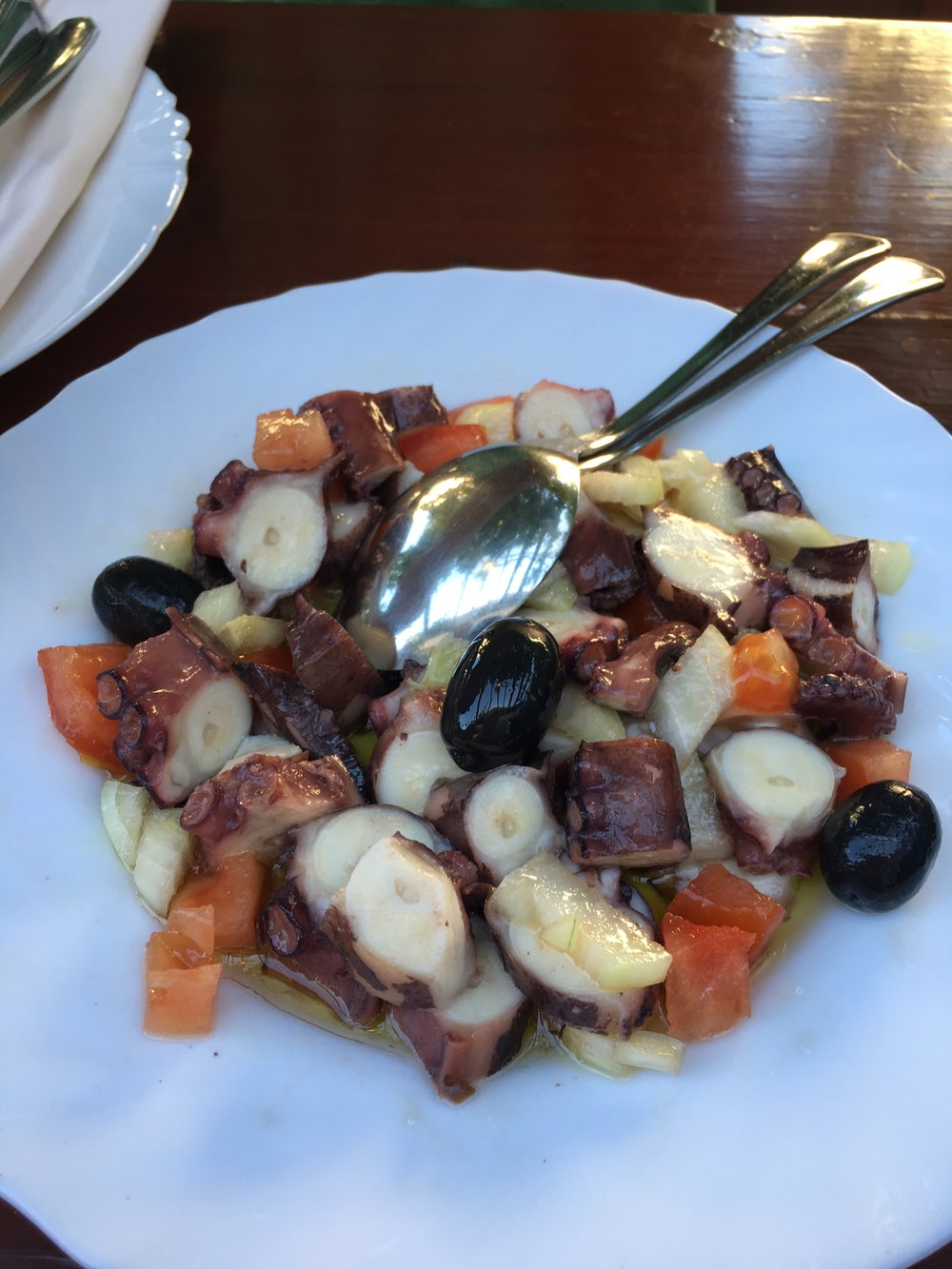 Traditional Dalmatian octopus salad