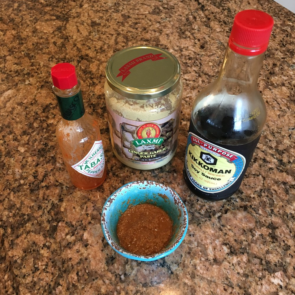 Feel free to substitute your favorite hot sauce, but definitely don't skip the ginger-garlic paste!
