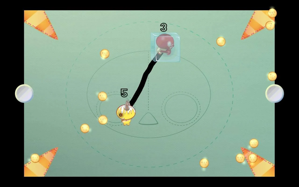 Tether - A competition for coin supremacy with rope physics and device-sharing play.