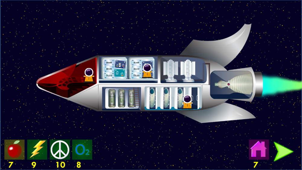 Space Trek: A Voyage Home - A resource management game about adapting to unknown situations.