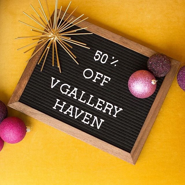 50% OFF storewide at vgalleryhaven.com  Modern resources and templates for photographers and creatives! Offer ends 11.26.18 at midnight! #blackfriday #cybermonday #photographer #designer #templates #christmascards
