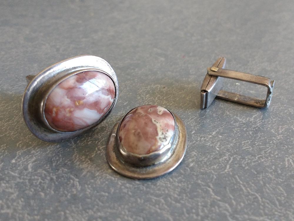 Sterling cufflinks broken