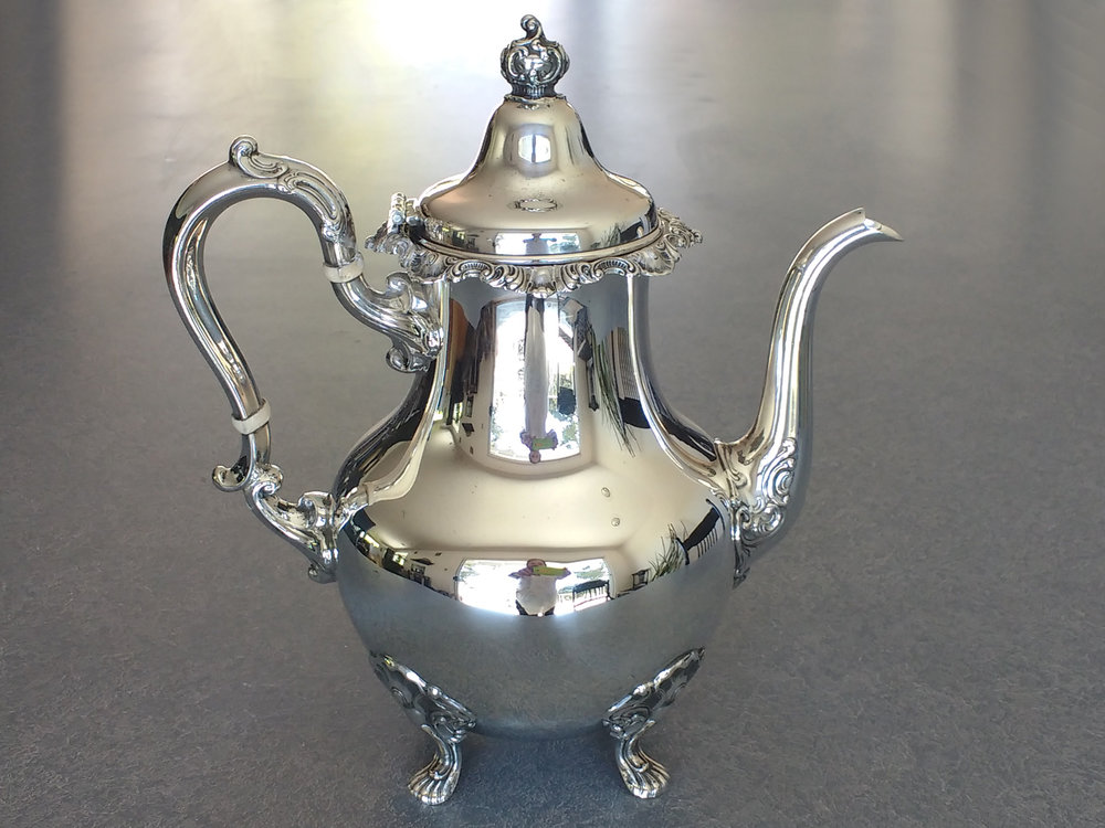 Sterling silver teapot restored and polished