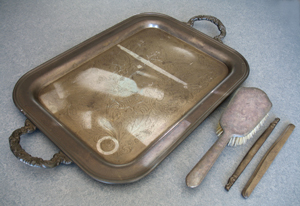 Tray with SOOT and other OBJECTS are removed