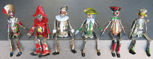 Berman cast sterling silver figures