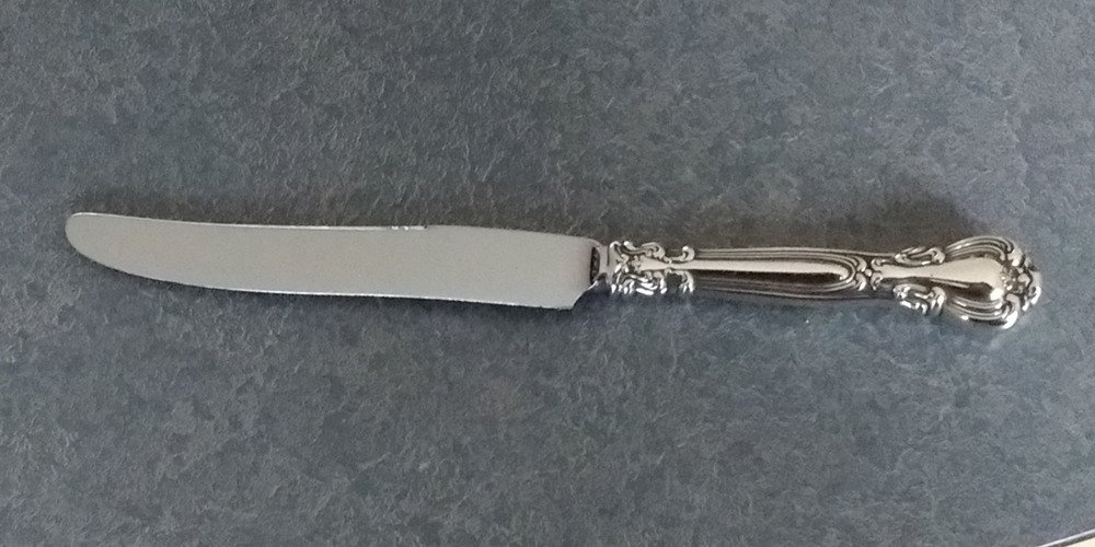 Sterling handle knife repaired and polished