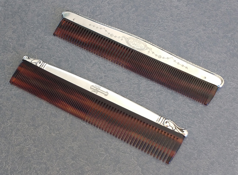 two sterling silver fitters with the plastic combs replaced