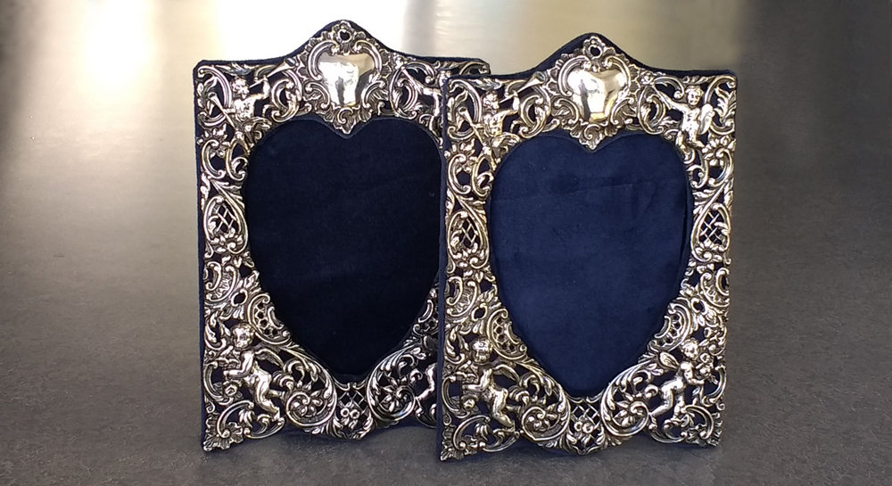 Sterling silver picture frame polished and restored