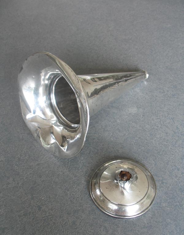 Sterling silver trumpet shape Flower vase broken and dented