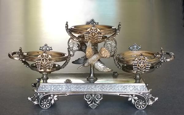 Antique silverplate epergne polished. & Polishing Antique Silverplate u2014 Harriete Estel Berman