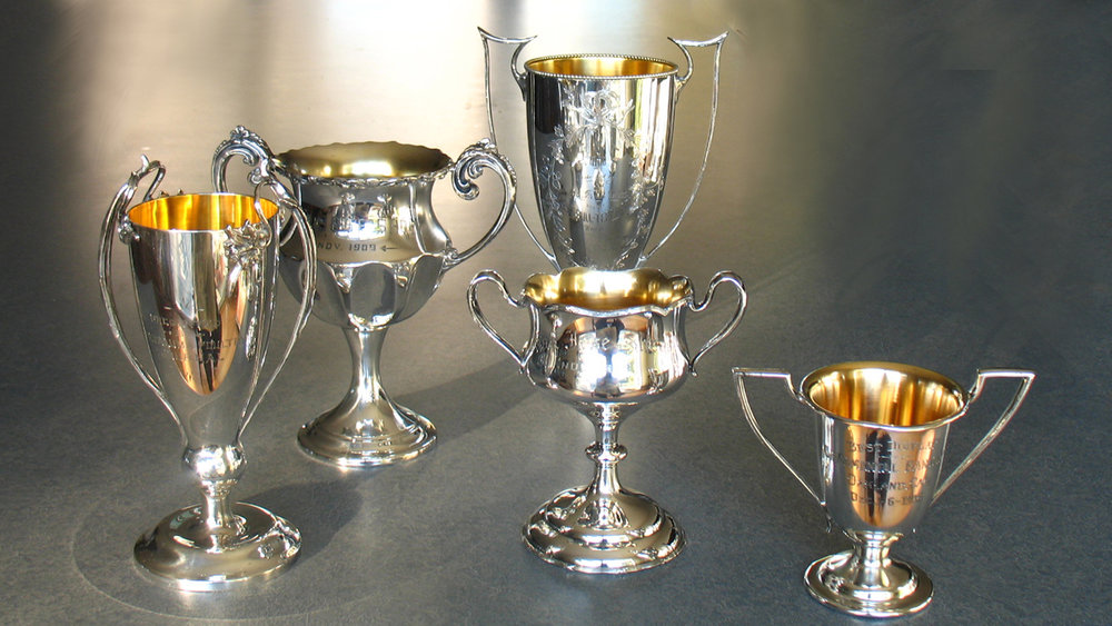 antique silverplate trophies repaired and polished