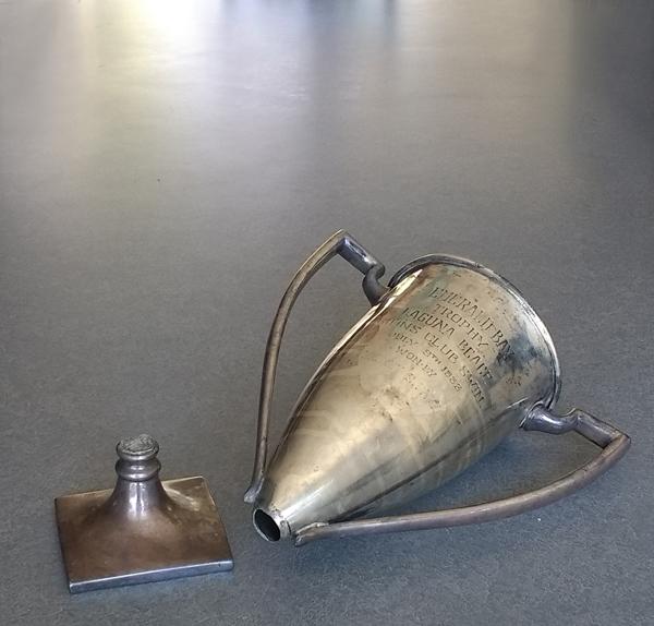 Vintage 1933 Silverplate Athletic Trophy broken