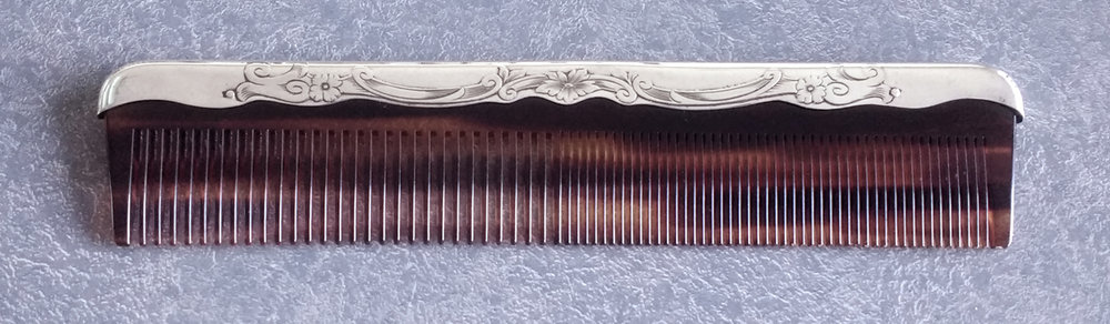 sterling silver dresser set comb replaced