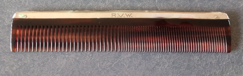 Sterling silver fitter repaired and comb replaced