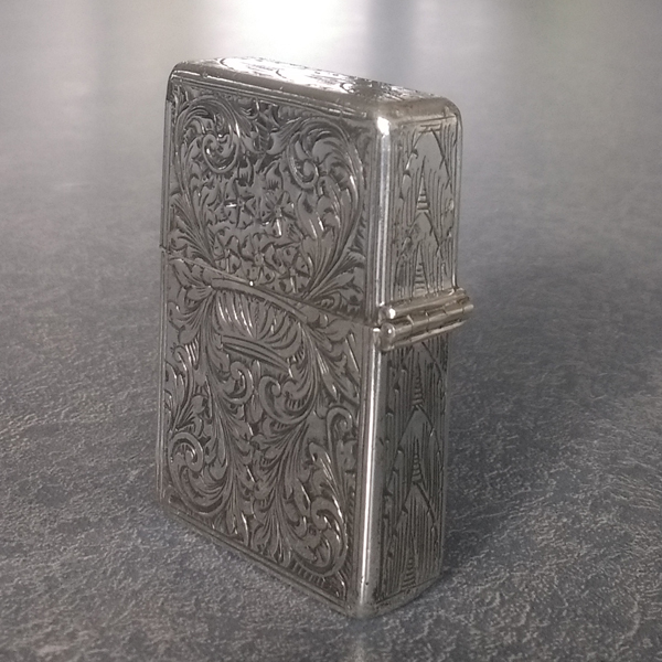 sterling silver cigarette lighter hinge rebuilt