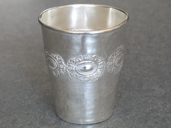 Kiddish cup after extensive repair work
