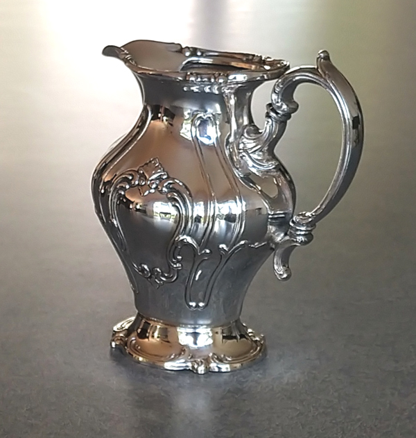 silverplate creamer with handle repaired