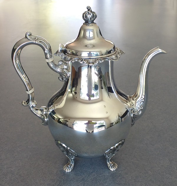 Sterling silver teapot restored repaired lid and polished