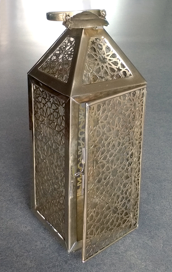 sterling silver lantern from Morocco repaired