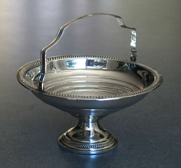 sterling silver candy dish with handle