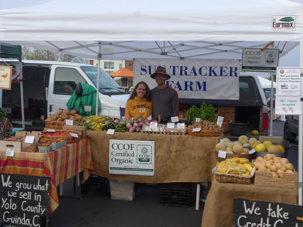 The early days of Sun Tracker Farm at the Napa Farmers' Market