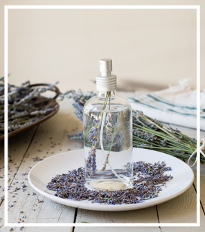 Lavender Sleep Spray - I have a sleep spray with essential oils I use on my pillow & sheets and lavender is amazing for sleep.1 ounce (2 tablespoons) witch hazel or vodka10 drops lavender essential oil3 ounces (6 tablespoons) water