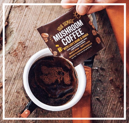 Mushroom Coffee - & mushroom hot chocolate! What's mushroom coffee? It contains real high quality coffee beans but also has medicinal mushrooms which are great for brain function, energy, immune function and are great adaptogens. I find the mushroom coffee doesn't give me the same jittery effect normal coffee does but you do get energy and focus. If coffee's not your thing this company also has superfood blends you can add ot smoothies!