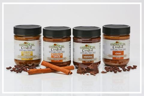 Coconut Oil Creations - I love blending some of this mocha coconut oil into my coffee and the chai is great on oatmeal!