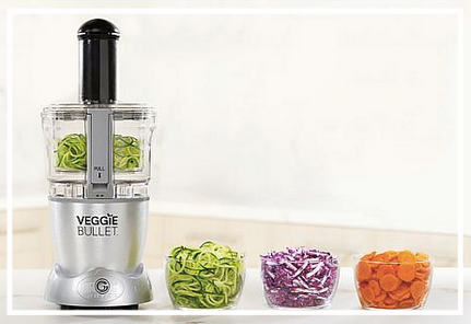 Veggie Bullet - I recently received one of these last month and am obsessed. I had stopped making zucchini noodles because it was just too much work and cleaning my spiralizer was a pain. This electronic spiralizer turns zucchinis (and squash and more) into noodles in seconds. You can also use it chop and shred other veggies.