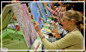 Paint Night - I've been wanting to do one of these classes for ages (and still haven't). Drink some wine, learn to pain, perfect! This would make a great gift for your mom, friends or partner.