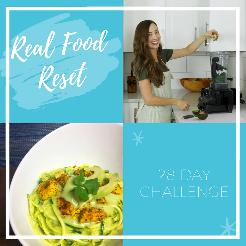 Real Food Reset - So I might be a little bias here.. but give the gift of getting healthy!Includes:- 4 weeks worth of meal plans & recipes- shopping list & prep guide- weekly check-in, accountability & support- private Facebook group