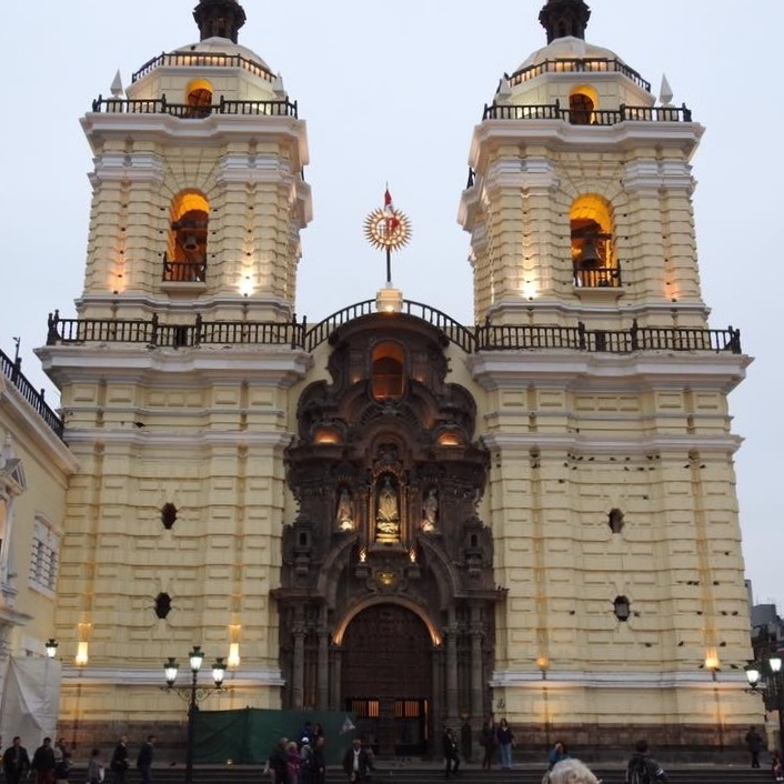 San Francisco Cathedral, Lima by Kevin Nansett for The Doubtful Traveller