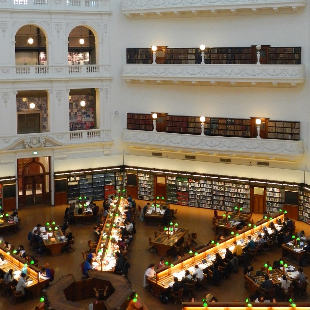 La Trobe reading room, State Library of Victoria, Melbourne by The Doubtful Traveller