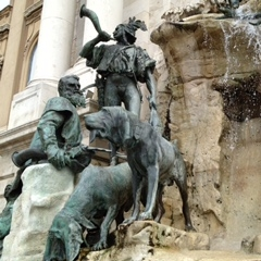 Fountain at Buda Castle, Budapest by Kevin Nansett for The Doubtful Traveller