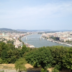 View from Buda Castle, Budapest by Kevin Nansett for The Doubtful Traveller