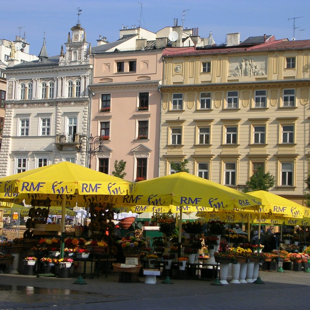 Rynek Glowny (old town square), Krakow by The Doubtful Traveller
