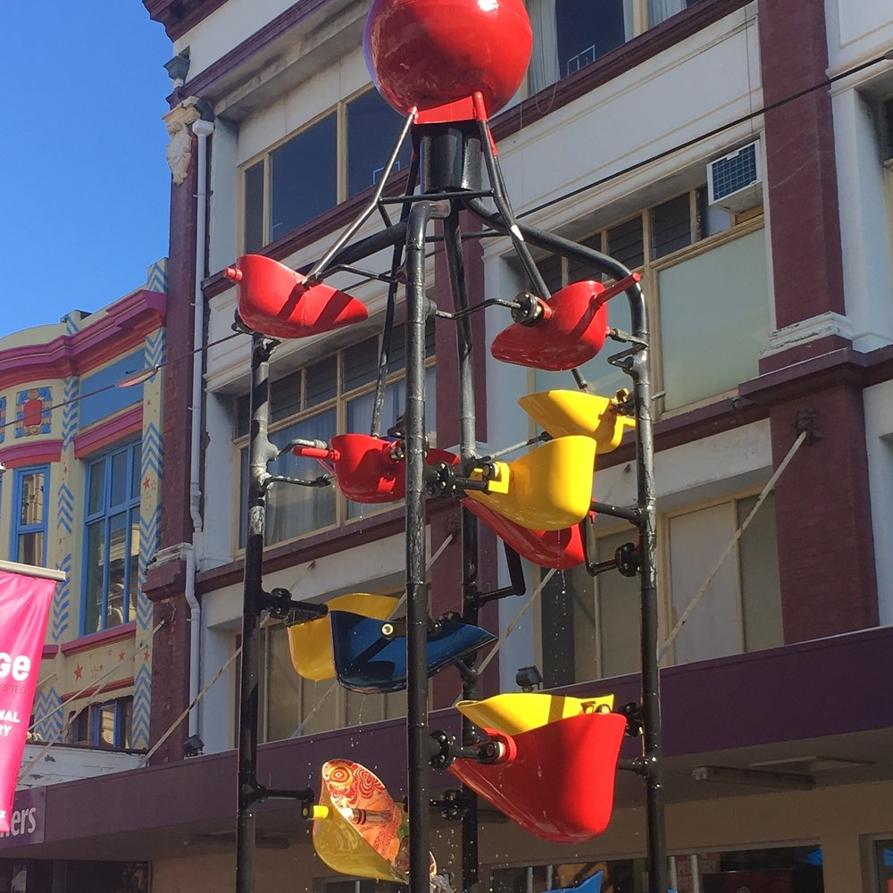 The bucket fountain, Wellington by The Doubtful Traveller