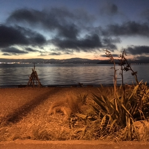 Day's Bay at dusk, Wellington by The Doubtful Traveller