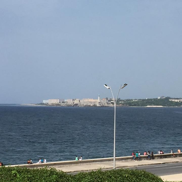Havana's waterfront with Castilla De Los Tres Del Morro in the background by Kevin Nansett for The Doubtful Traveller