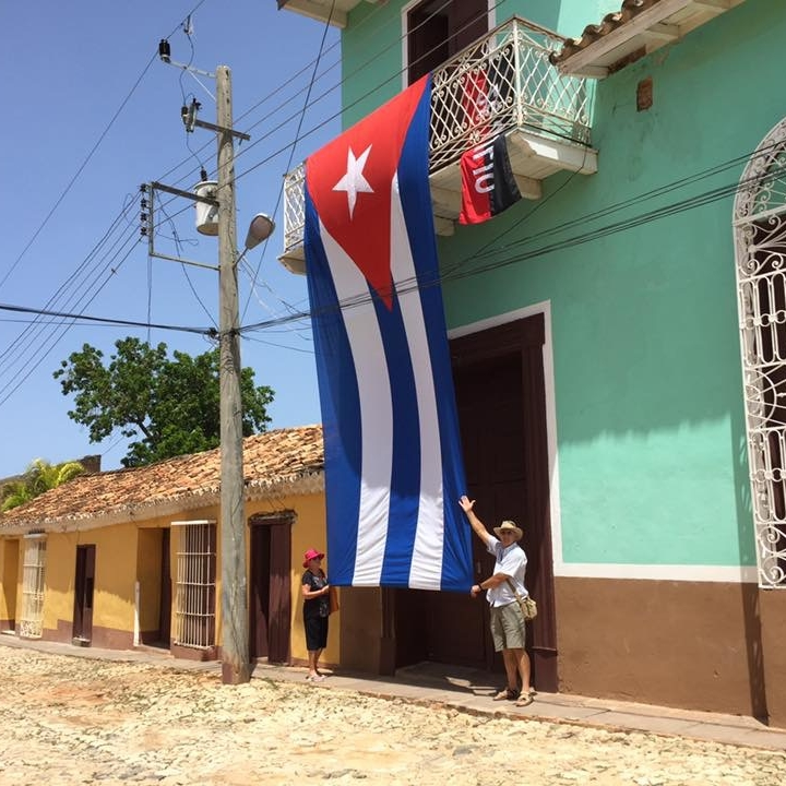 The Doubtful Traveller contributors Kevin and Vonda in Trinidad, Cuba