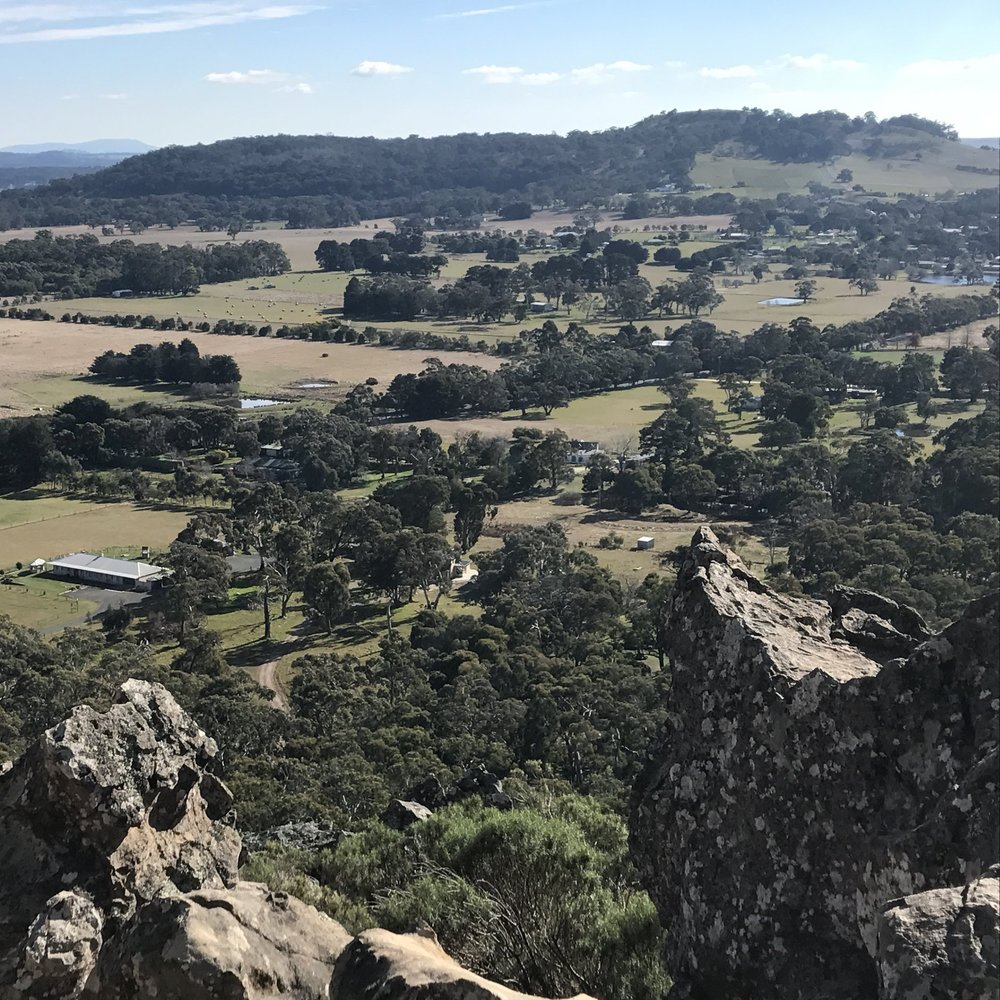 Side trip from Melbourne: view from Hanging Rock, near Daylesford, by The Doubtful Traveller
