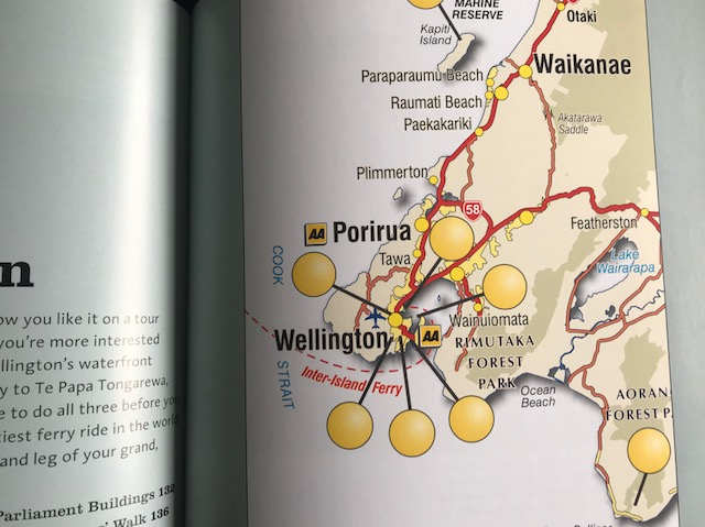 Wellington - '101 Must-do's for Kiwis' by the Automobile Association is a fun guide to Wellington, and the rest of New Zealand, for more than just Kiwis. It highlights some good day trips from Wellington, although you'll need a car. Read more about Wellington here.Buy this book.