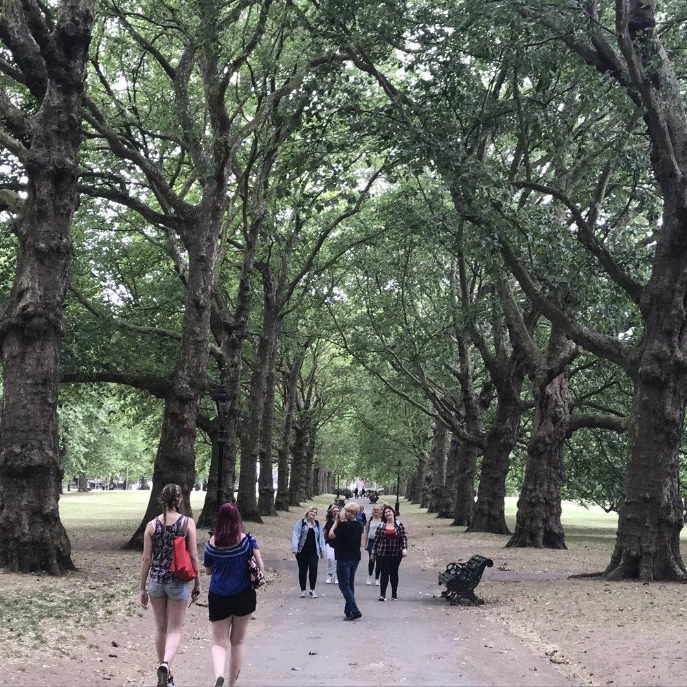 St James's Park, London. The Doubtful Traveller