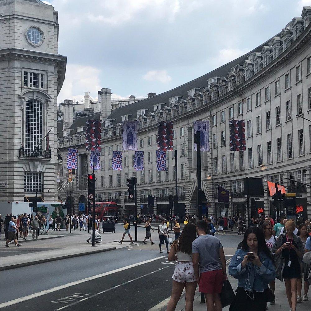 Regent Street, London. The Doubtful Traveller