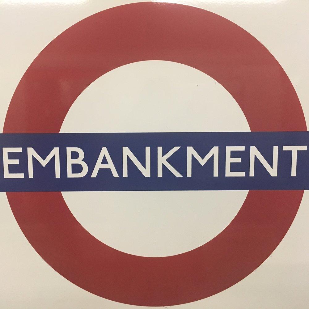 Embankment Tube station, London. The Doubtful Traveller