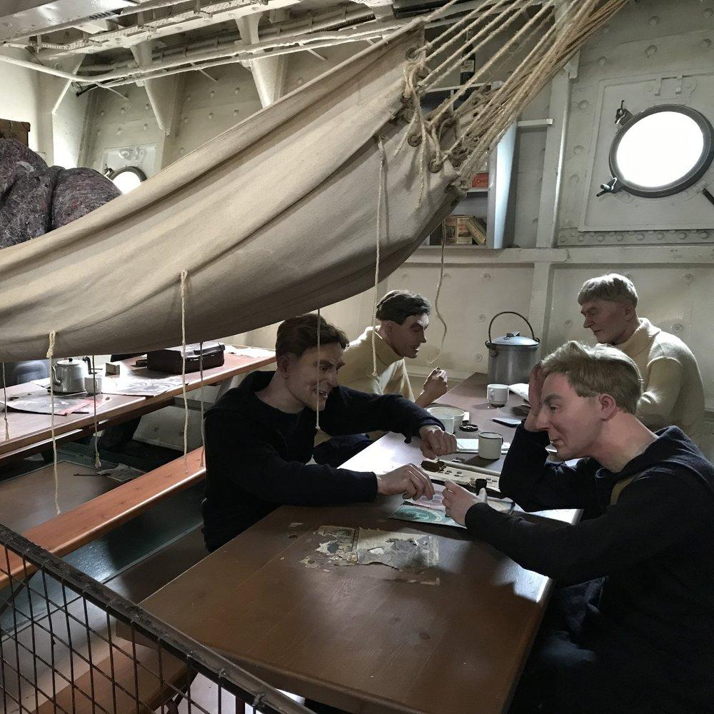 HMS Belfast, London. The Doubtful Traveller
