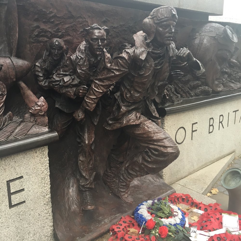 Battle of Britain memorial, London. The Doubtful Traveller