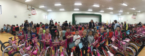 Here are 313 happy recipients thanks to Ride for Bikes including assistance from CAP Logistics