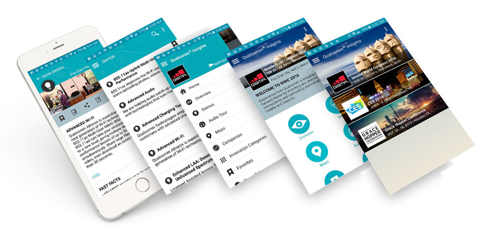 Qualcomm Mobile App Content Strategy tradeshows and events