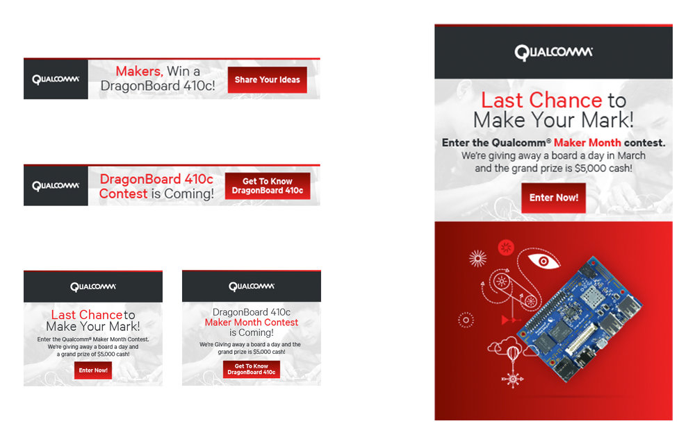 Qualcomm Dragonboard Contest Integrated Campaign Creative Dragonboard 410c Maker Month Contest